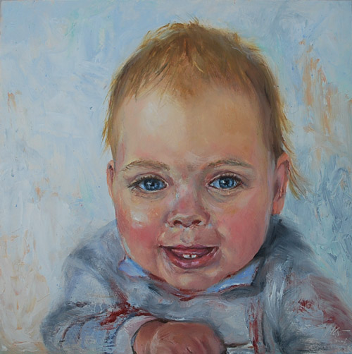 Portretten in olieverf in opdracht olieverf - Kinder schilderij ...