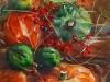 Olieverf Pompoenen en besjes II