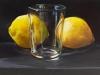 Olieverf opdracht Glas en citroenen