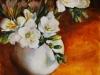 olieverf op paneel 14 x 14 cm, beautiful-white te koop