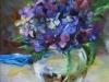 hortensia in olieverf maat 20 x 20 cm (Verkocht)