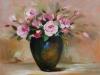 tros-roosjes, olieverf op paneel, maat 39 x 36,5 cm te koop