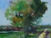 Olieverf studie boom te koop maat 14x14 cm