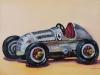 Vintage speelgoed auto Olieverf, maat 13 x 18 cm