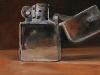 light-my-fire, olieverf 10 x 10 cm te koop