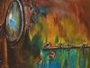 Olieverf H20 opel-olympia 20 x 20 cm te koop