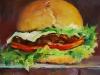 """Olieverf """"Hamburger broodje"""""""