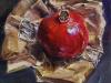 Olieverf Granaatappel met papieren zak te koop