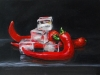 Olieverf opdracht Rode pepers (Verkocht)