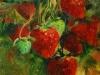 olieverf aardbeien, maat 18 x 13 cm te koop