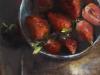olieverf-blauw-schaaltje-met-aardbeien-II te koop