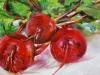 olieverf-rode-bietjes-op paneel te koop, maat 14 x 14 cm