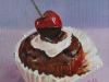 chocolade cupcake in olieverf (VERKOCHT)