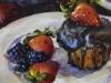 Olieverf-cake-met-chocolade-en-bramen te koop