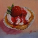 olieverf aardbeiencake (VERKOCHT)