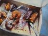 Olieverf gebaksdoos maat 24 x 30 cm te koop