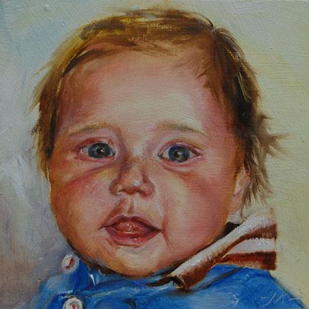 Kinder portretten olieverf - Kinder schilderij ...