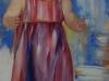 olieverf op linnen, 100 x 40 cm, Claudia