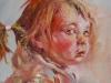 olieverf portret-meisje