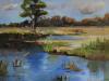 landschap-studie-met-water maat 20x20 cm te koop.