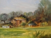 Olieverf Zicht op Ritthem, maat 18 x 23 cm, Plein air schilderij