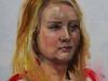 Lifeportrait Eva 40x40 cm op canvas