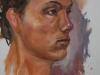 Olieverf studie van Emannuel Life, maat 40x30 cm