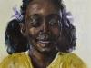 olieverf-Meisje-met-paarse-strikjes-in-haar maat 23x23 cm
