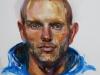 olieverf studie van een man, maat 40x30 cm