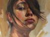portret-studie in olieverf