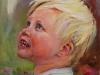 Baby Joris 14 maanden, olieverf op canvas