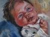 Olieverf schilderij joris-5-weken