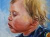 Olieverf schilderij joris 9 maanden