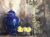 Blauwe-Chinese-vaas-klassiek-stilleven 60x60 cm 3D doek te koop (OPTIE)