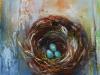 Olieverf vogelnestje II - te koop