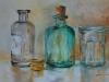 Olieverf schilderij glaswerk (Verkocht)