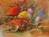 Olieverf herfst-sprookje, olieverf op board