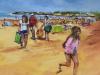 olieverf-een-dagje-strand te koop