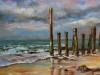 olieverf strandpalen Zeeland te koop
