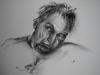 Houtskool portret Model Tom
