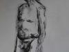 Mannelijk naakt houtskool studie
