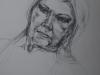 potlood portret studie Wil 17.02.17