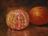olieverf gepelde-mandarijn, olieverf op paneel