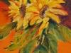 Zonnebloemen in H20 Olieverf