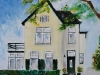 Huis H2O olieverf op canvas