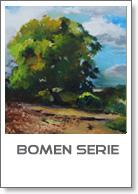 bomen in olieverf, schilderijen serie over bomen
