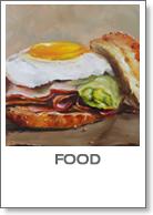 food en etenswaren op schilderijen