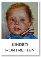 portretten van kinderen in olieverf