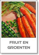 Groenten en fruit olieverfschilderijen te koop - keukenkunst