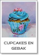 schilderijen cupcakes en gebakjes te koop